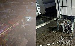 Огонь уничтожил шоколадки, печенье и кофемашину: в Кривом Роге горел магазин