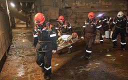 Люди пострадали в результате ЧП на ЦГОКе, - легенда учений криворожских горноспасателей