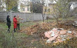 Стихийная свалка образовалась на территории гимназии в Кривом Роге