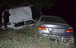 ДТП в Кривом Роге: две машины в кювете, пострадали водители