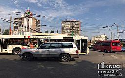 Пострадала женщина: на 95 квартале в Кривом Роге Toyota столкнулся с троллейбусом