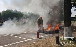 Криворожские спасатели завоевали бронзу на областных состязаниях среди пожарных