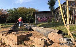 На центральной улице Кривого Рога случился порыв трубопровода