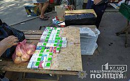 Тонну продуктов изъяли полицейские у криворожских торговцев