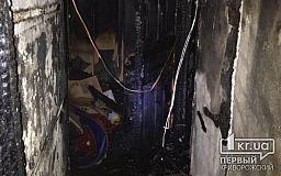 Ночью в Кривом Роге во время пожара спасли семью с ребенком