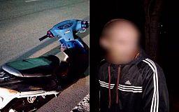 В Кривом Роге патрульные задержали выпившего мужчину на скутере