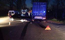 В Кривом Роге пьяный водитель легковушки попал в аварию с грузовиком