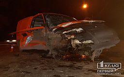 На шоссе в Кривом Роге автомобиль на большой скорости врезался в столб