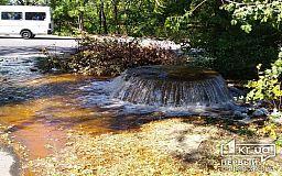 Подземный фонтан: в Кривом Роге прорвало водопровод