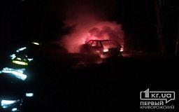 Ночью в Кривом Роге сгорел ВАЗ