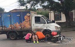 Криворожанка пострадала во время ДТП с мотоциклом и грузовиком