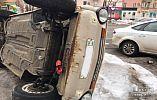 В Кривом Роге сгорело авто, которое ранее перевернули неизвестные