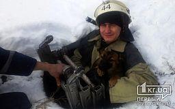 В Днепропетровской области пожарные спасли щенка, который упал в открытый колодец