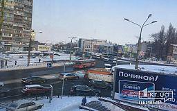 На 95 квартале в Кривом Роге из-за ДТП затруднено движение