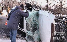 Недалеко от Кривого Рога в ДТП попали легковушка и грузовик