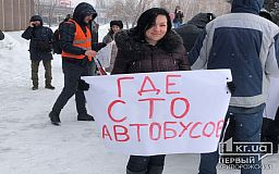 Криворожане протестуют против «маршруток-собачих будок»