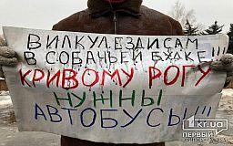 Чиновники не вышли к протестующим под исполкомом горсовета Кривого Рога