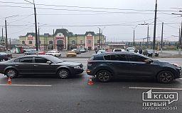 ДТП в Кривом Роге: напротив вокзала столкнулись Kia и Skoda