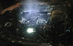 Ночью в Кривом Роге горел Range Rover