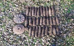 В селе под Кривым Рогом нашли схрон со снарядами времен Второй мировой войны