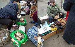 У криворожских уличных торговцев опять изъяли молоко и десятки килограммов овощей и фруктов