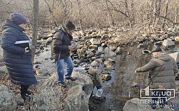 Криворожские чиновники взяли пробы воды из реки Ингулец