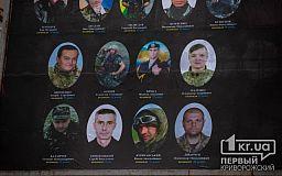 У пам'ять про земляків, які загинули за незалежність України, у Кривому Розі оновили борд
