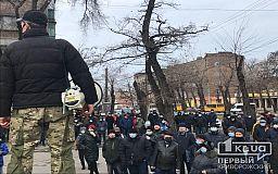 Митинг заводчан: на 30% поднять зарплату требуют сотрудники «АрселорМиттал Кривой Рог»