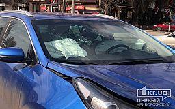 В результате ДТП в центре Кривого Рога пострадал водитель авто