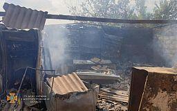 У селищі під Кривим Рогом згоріла господарча споруда