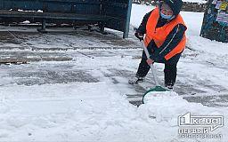 5 тысяч человек в Кривом Роге убирали последствия снегопада