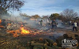 Недалеко от Кривого Рога сгорел сарай и 10 тонн сена