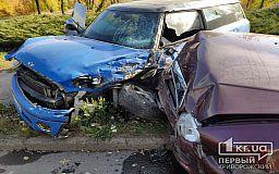 В Кривом Роге столкнулись 4 легковых автомобиля