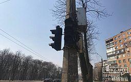На центральном проспекте Кривого Рога не работают светофоры