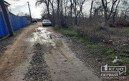 Жители частного сектора в Кривом Роге пытаются добиться ремонта дороги