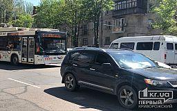 Из-за ДТП на центральном проспекте Кривого Рога образовалась пробка