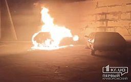 Ночью в Кривом Роге горели два легковых авто