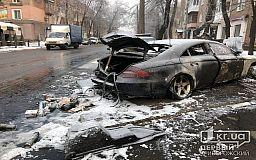 Оружие и боеприпасы нашли полицейские в сгоревшем Mercedes