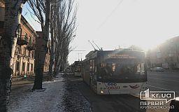 Из-за ДТП временно парализовано движение троллейбусов в Кривом Роге
