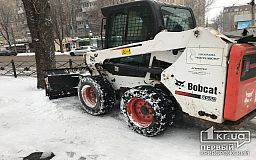 Более 100 единиц спецтехники убирали снег в Кривом Роге