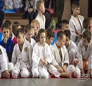 Новогодний турнир по дзю-до среди детей в Кривом Роге