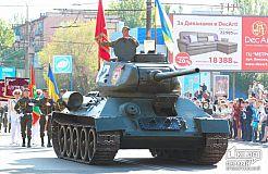 Масштабное действо на проспекте Владимира Великого по случаю 72-й годовщины победы над нацизмом