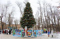 Новогодний праздник в Покровском районе Кривого Рога