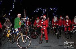 Діди Морози організували велопробіг по Кривому Рогу