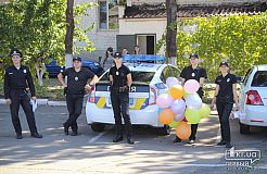 Сладости, развлечения и подарки. В Кривом Роге отмечали день Национальной полиции