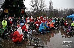 Новогодний велопробег Дедов Морозов в Кривом Роге