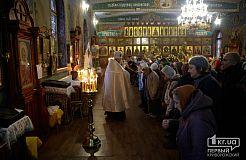 Рождественская служба в криворожском храме