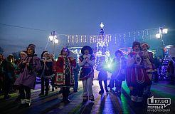 Открытие ёлочного городка В Центрально-Городском районе Кривого Рога