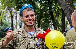 Криворожские десантники провели шествие ко дню ВДВ