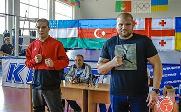 Международная матчевая встреча по боксу: взвешивание